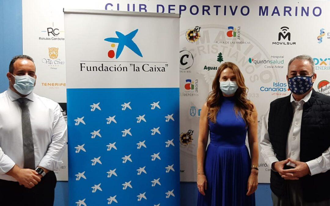 """El CD Marino y la Obra Social """"la Caixa"""" firman un convenio de colaboración en materia de acción social"""