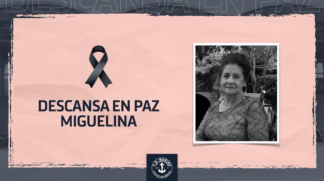 Luto por el fallecimiento de Miguelina Oval