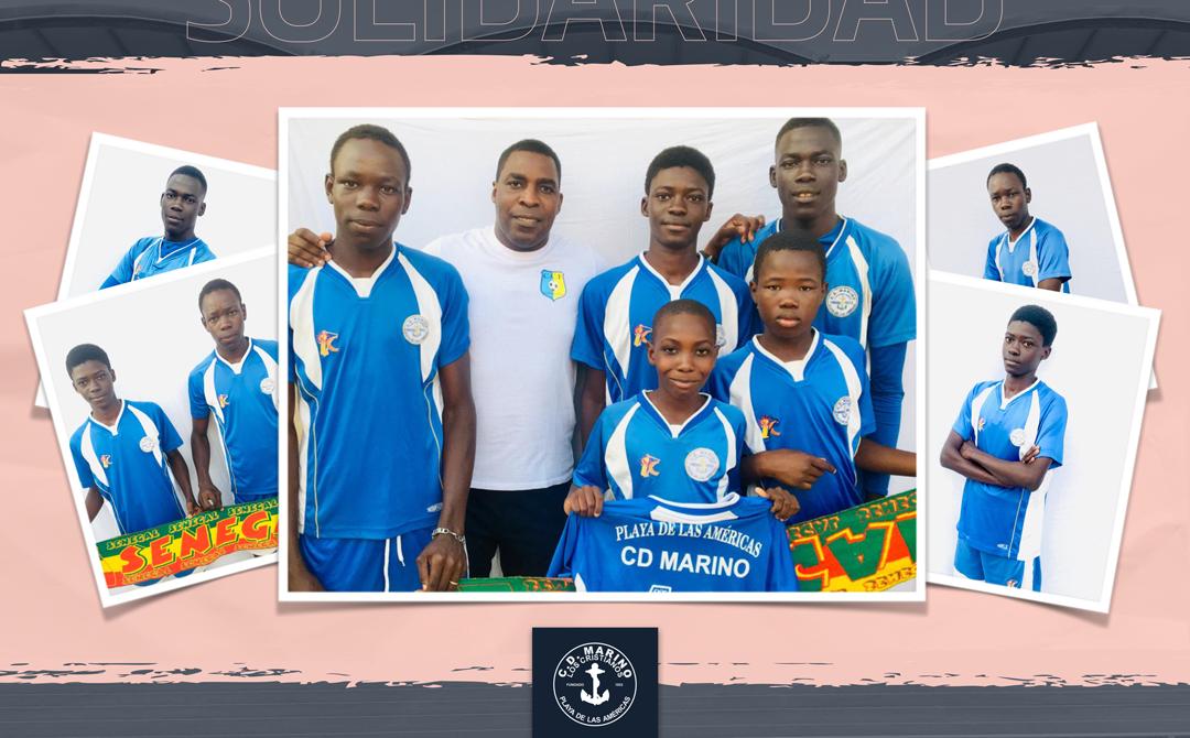 El CD Marino dona material deportivo a varias escuelas de fútbol en Senegal